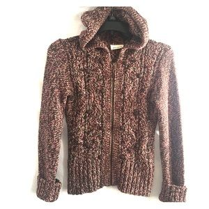 Dkny sweater hoodie  zip front M